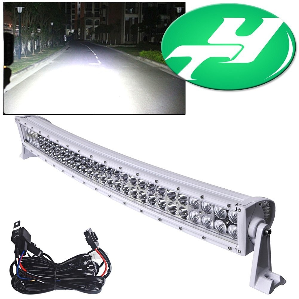 "YINTATECH 32"" 180W Curved Spot-Flood LED Light Bar Work Lamp Waterproof 10V-60V for ATV Jeep 4WD Tractor Truck Driving Offroad Free Wiring Harness"