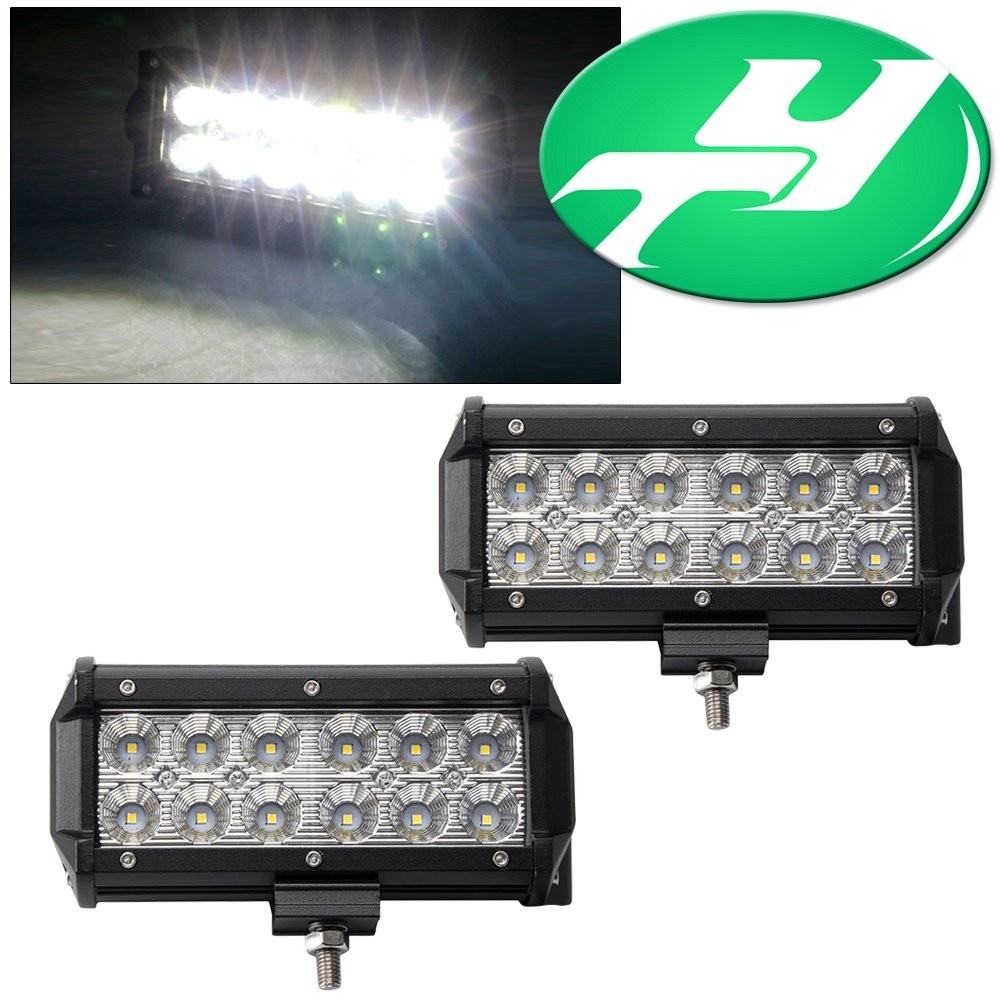 Yintatech led light bar 2pack 6 flood 36w led work light off road yintatech led light bar 2pack 6 flood 36w led work light off road led light bar driving lights with mounting bracket waterproof for jeep cabin boat suv aloadofball Gallery