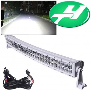 """YINTATECH 32"""" 180W Curved Spot-Flood LED Light Bar Work Lamp Waterproof 10V-60V for ATV Jeep 4WD Tractor Truck Driving Offroad Free Wiring Harness"""