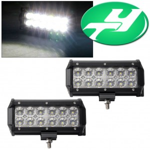 """YINTATECH Led Light Bar 2PACK 6"""" Flood 36W LED Work Light Off Road LED Light Bar Driving Lights with Mounting Bracket Waterproof for Jeep Cabin Boat SUV Truck Car ATVs"""